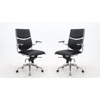 Manhattan Comfort Ergonomic High Back Verdi Office Chair (Set of 2)