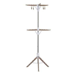 2-Tier Tripod Clothes Dryer with Hanging Clothespins