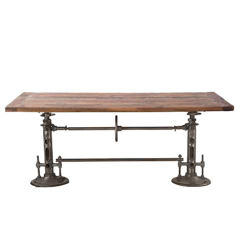 Artezia 82-Inch Reclaimed Teak Wood Adjustable Dining Table