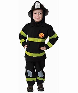 Award Winning Deluxe Fire Fighter Dress Up Costume - Thumbnail 0