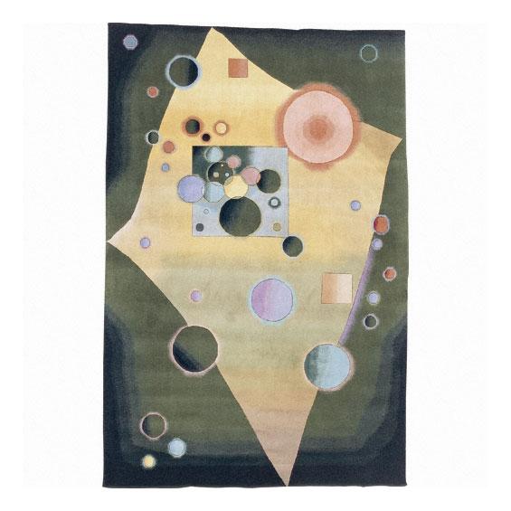 Nourison Hand-knotted Famous Maker Modern Art Emerald Wool Rug (3'9 x 5'9)