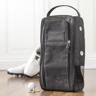 Personalized Waxed Canvas Golf Shoe Bag (More options available)