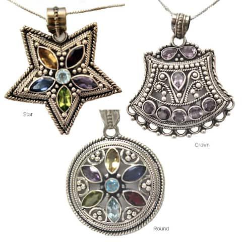 "Handmade Regal Minura Jeweled Necklace (India) - 18"""