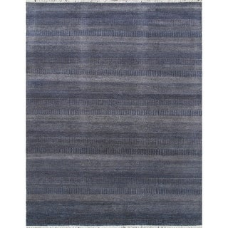 """Transitiona collection Hand-Knotted Bsilk&wool Rug (9' 1"""" X 12' 2"""") - 9' x 12'"""
