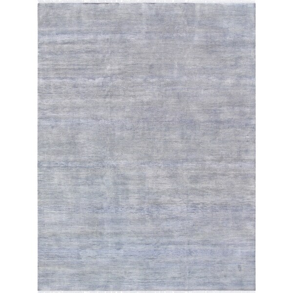 """Pasargad Transitiona collection Silver/Grey Bsilk&wool Rug (9' 1"""" X 12' 3"""")"""