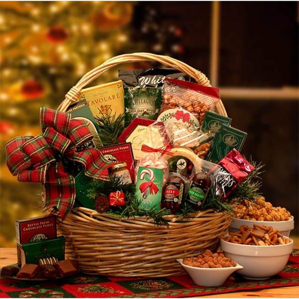 Shop Medium Holiday Celebrations Christmas Basket - Free ...