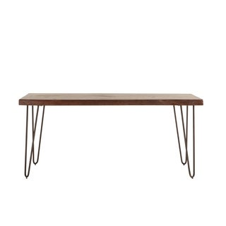 World Interiors Walnut Finish Acacia Wood Dining Table