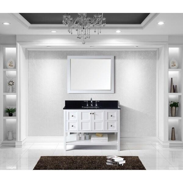 Virtu USA Winterfell 48-inch Black Granite Single Bathroom Vanity Set