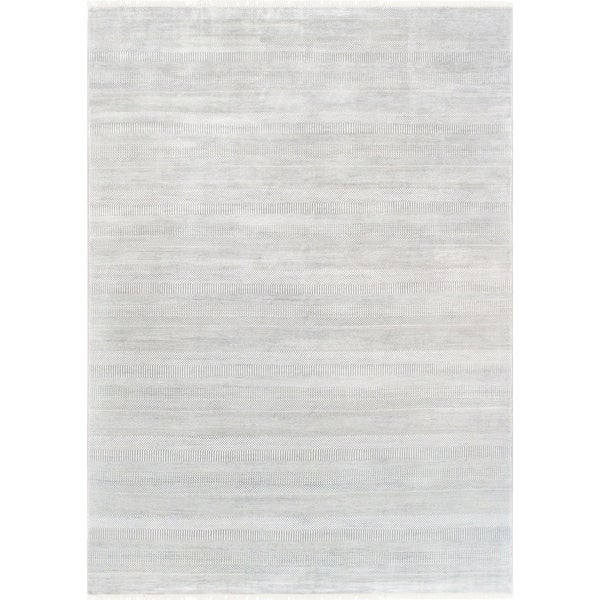 """Pasargad Transitiona Hand-Knotted Bsilk&wool Area Rug (10' 0"""" X 14' 3"""") - 10' x 14'"""