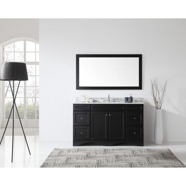 Virtu USA Talisa 60 Inch Single Vanity Cabinet Only   Solid Wood