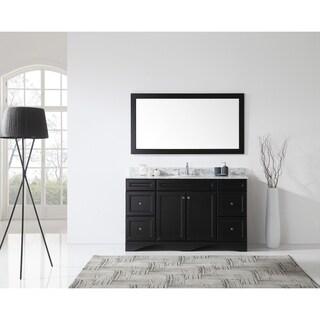 Virtu USA Talisa 60-inch Carrara White Marble Single Bathroom Vanity Set