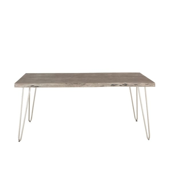 Weathered Grey Acacia Wood Dining Table by World Interiors