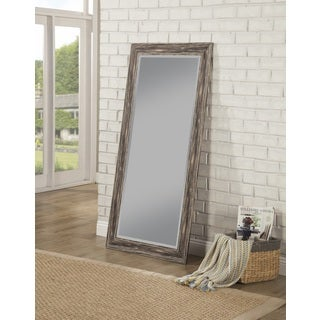 Sandberg Furniture Antique Black Farmhouse Full Length Leaner Mirror    Antique Black
