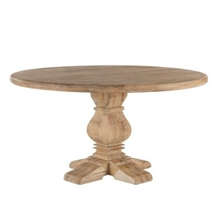 World Interiors Pengrove Antique Oak Mango Wood 60-inch Round Dining Table