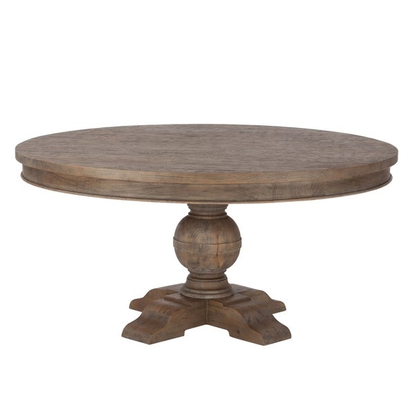 Copper Grove Asperg Grey Weathered Teak 60-inch Round Dining Table