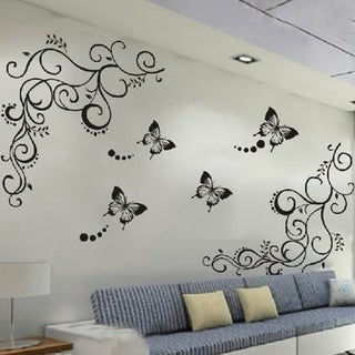 Nursery, Flowers, Vine and Butterfly Wall Vinyl