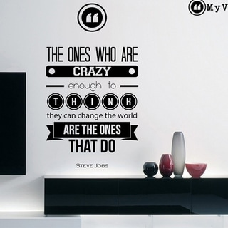 The Ones Who Are Crazy - Steve Jobs Quote Wall Vinyl