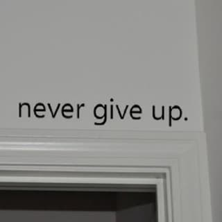 Never Give Up Wall Viny