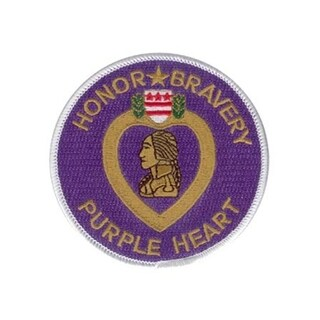 Purple Heart Honor Bravery 3.5 Inch Round Patch