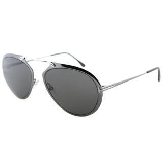 Tom Ford Aviator TF 508 08Z Unisex Shiny Gunmetal Frame Grey Lens Sunglasses