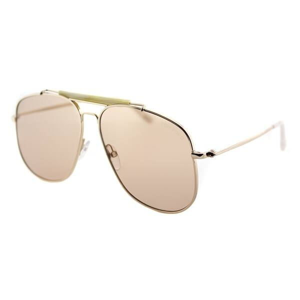 1bb195ee8b Tom Ford Aviator TF 557 28Y Unisex Shiny Rose Gold Frame Light Brown Lens  Sunglasses ...