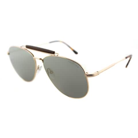 fe5a4ebcc3 Tom Ford Aviator TF 536 28C Unisex Shiny Rose Gold Frame Silver Mirror Lens  Sunglasses