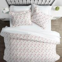 Merit Linens Premium Ultra Soft 3 Piece Blossoms Print Duvet Cover Set