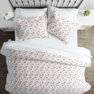 Merit Linens Premium Ultra Soft 3 Piece Blossoms Print Duvet Cover Set