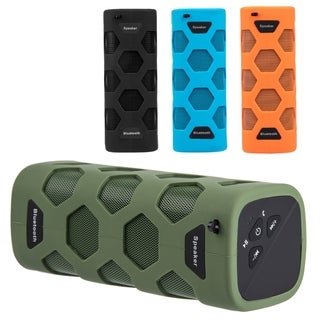 Outdoor Sports Water Resistant Bluetooth Speaker With Dual Speakers, Built-In Mic (Option: Green)