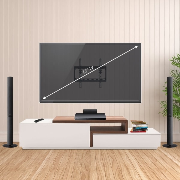 shop furinno modern wall mount tv bracket for tv up to 65 inch on sale free shipping on. Black Bedroom Furniture Sets. Home Design Ideas