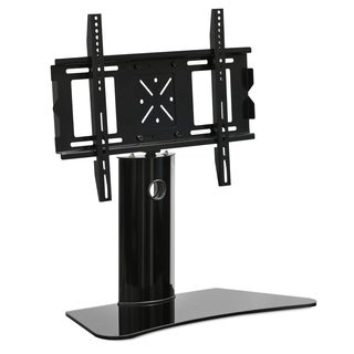 Furinno Modern Black TV Stand with Wall Mount Bracket for TVs up to 65 Inches