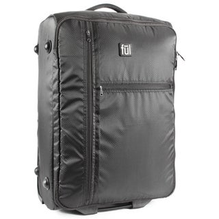 Ful Fold-Up 27-inch Black Rolling Foldable Upright Suitcase