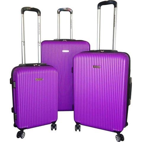 "Karriage-Mate 3-piece Purple Hardside Spinner Luggage Set - 28"" 24"" 20"""