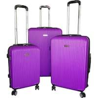 Karriage-Mate 3-piece Purple Hardside Spinner Luggage Set