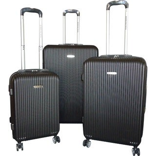 "Link to Karriage-Mate 3-piece Black Hardside Spinner Luggage Set - 28"" 24"" 20"" Similar Items in Luggage Sets"