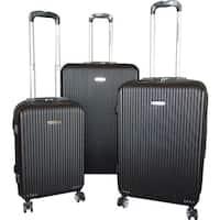 Karriage-Mate 3-piece Black Hardside Spinner Luggage Set