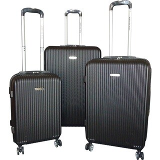 Karriage-Mate 3-piece Black Hardside Spinner Luggage Set