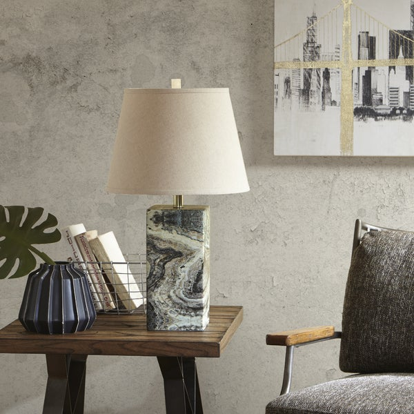 INK+IVY Lafayette Green Table Lamp