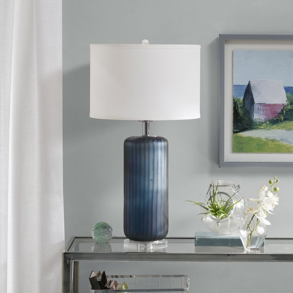Madison Park Banyan Blue Table Lamp