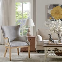 Madison Park Stephen Natural/Grey Wood/Fabric Accent Chair