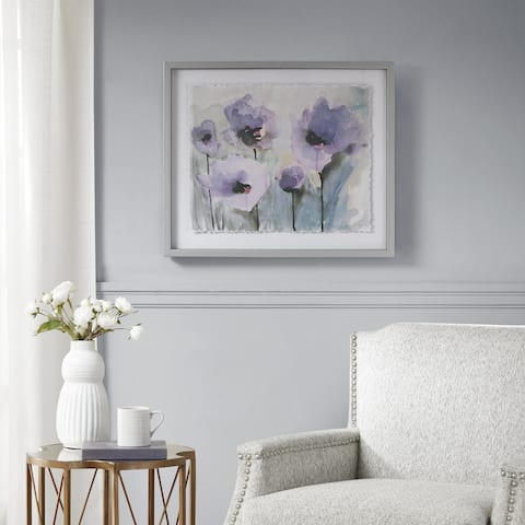 Madison Park Lilac Blooming Spring Purple Framed Graphic