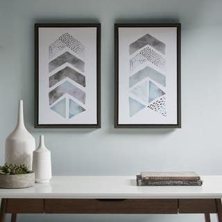 Urban Habitat This and That Way Blue/ Grey Framed Gel Coat Canvas - Set Of 2|https://ak1.ostkcdn.com/images/products/17486872/P23715695.jpg?impolicy=medium