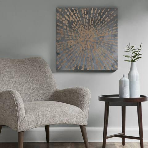 Urban Habitat Starburst Grey/ Gold Gel Coat Canvas With Gold Foil/ MDF Backer