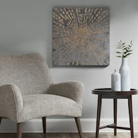 Urban Habitat Starburst Grey/ Gold Gel Coat Canvas With Gold Foil/ MDF Backer