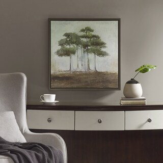 Madison Park Signature Bonsai Forest Green Framed Gel Coat Canvas With MDF Backer