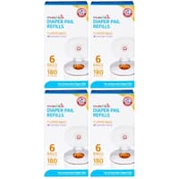 Munchkin Arm & Hammer Diaper Pail Snap with Seal and Toss Refill Bags - 24 Pack