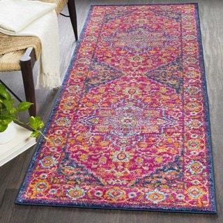 Hali Bright Magenta Persian Rug  (2'7 x 12')