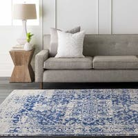 "Haute-Hali Persian Distressed Blue Area Rug - 2'8"" x 12'"