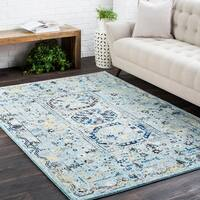 Traditional Colonial Vintage Blue Runner Rug (2'7 x 7'3)