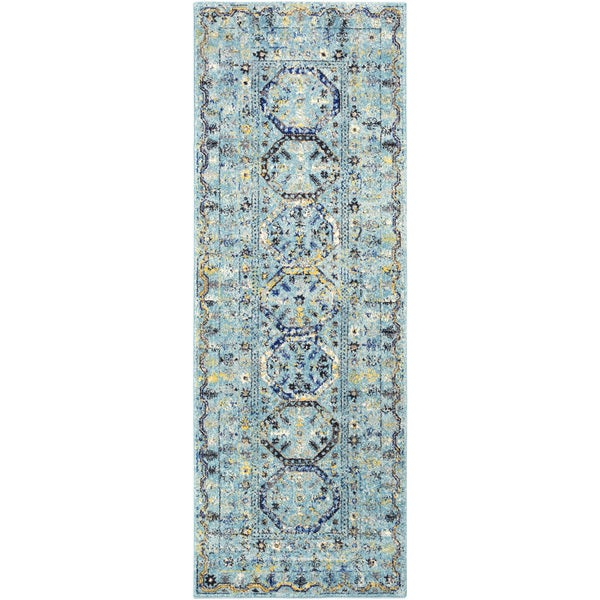 """Traditional Colonial Vintage Blue (2'7"""" x 7'3"""")"""